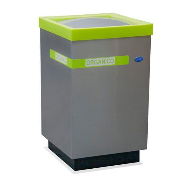 ART CENTER / Basurero ecologico cubo grande balancin para basura organica en acero inoxidable