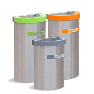 ART CENTER / Basurero ecologico medio punto para separacion de deshechos y basura