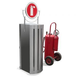 Portaextintor para extintor movil de alta capacidad