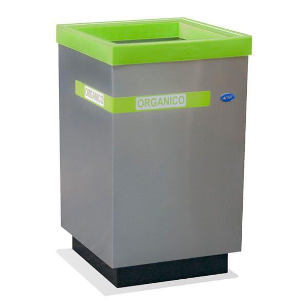 ART CENTER / Basurero ecologico cubo grande para basura organica en acero inoxidable