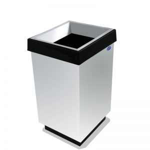 basurero cubo grande cónico