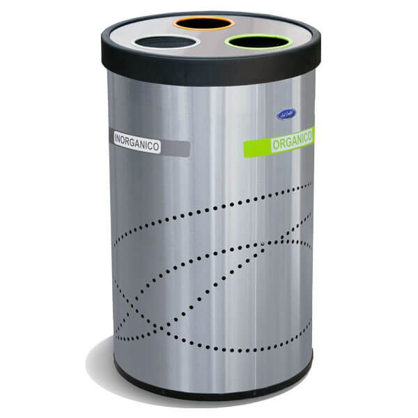 ART CENTER / Basurero ecológico Jumbo de 3 separaciones
